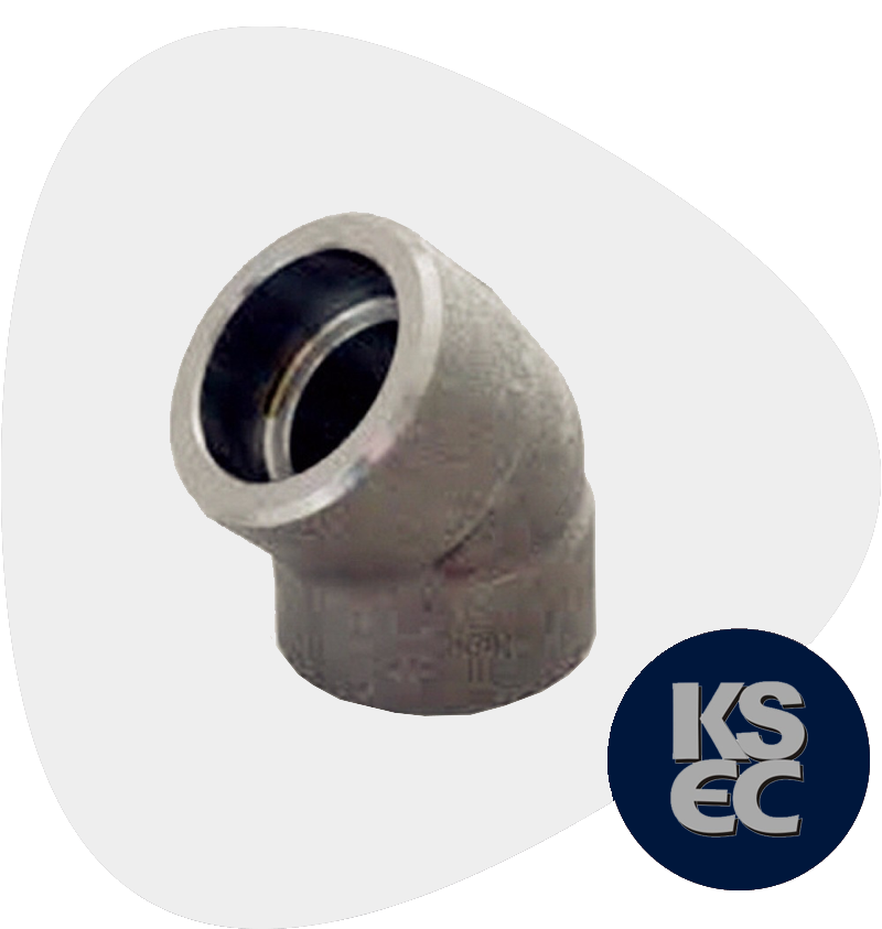 Alloy Steel Forged Socket Weld 45 Degree Elbow