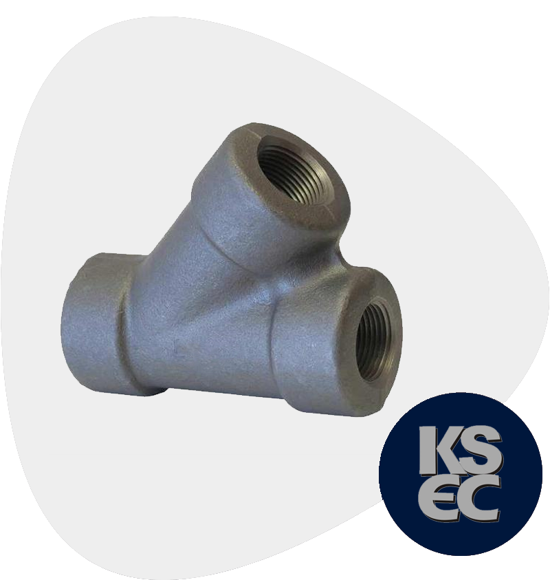 Alloy Steel Forged Threaded 45 Degree Lateral Tee