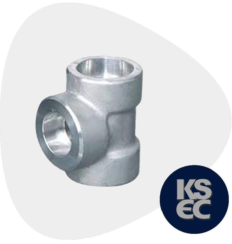 Duplex/Super Duplex Steel Forged Socket Weld Unequal Tee