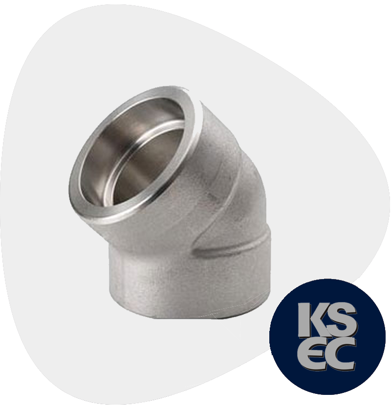 Duplex/Super Duplex Steel Forged Socket Weld 45° Elbow