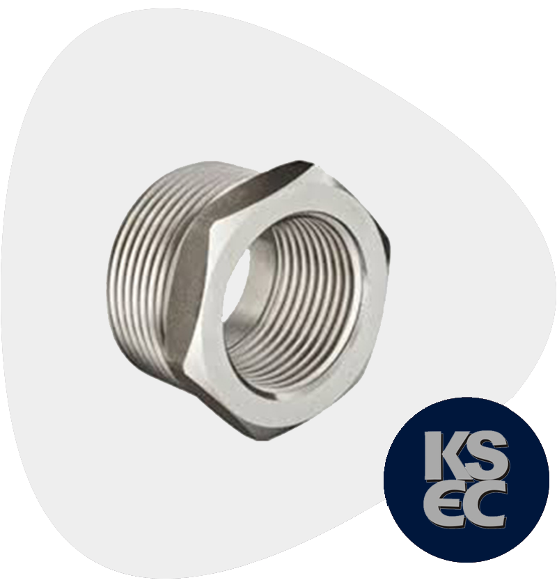 Duplex/Super Duplex Steel Forged Threaded Hex Head Bushings