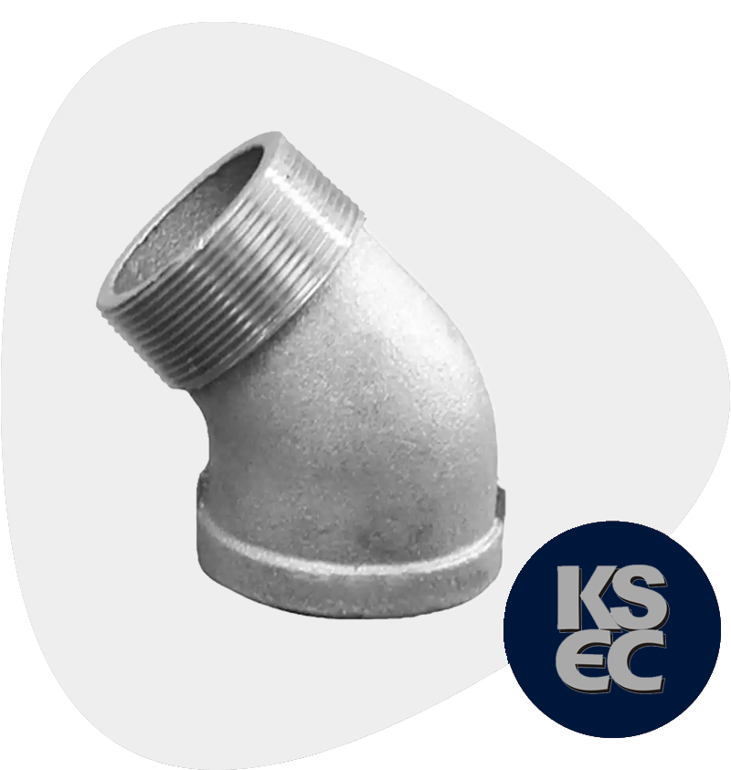 Duplex/Super Duplex Steel Forged Threaded Street Elbow
