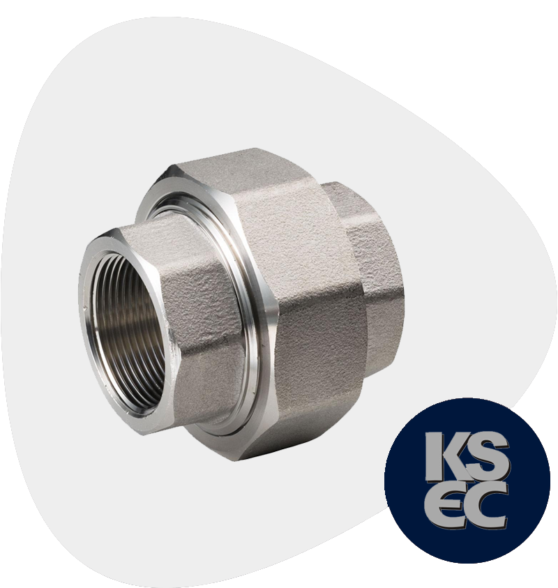 Duplex/Super Duplex Steel Forged Threaded Union