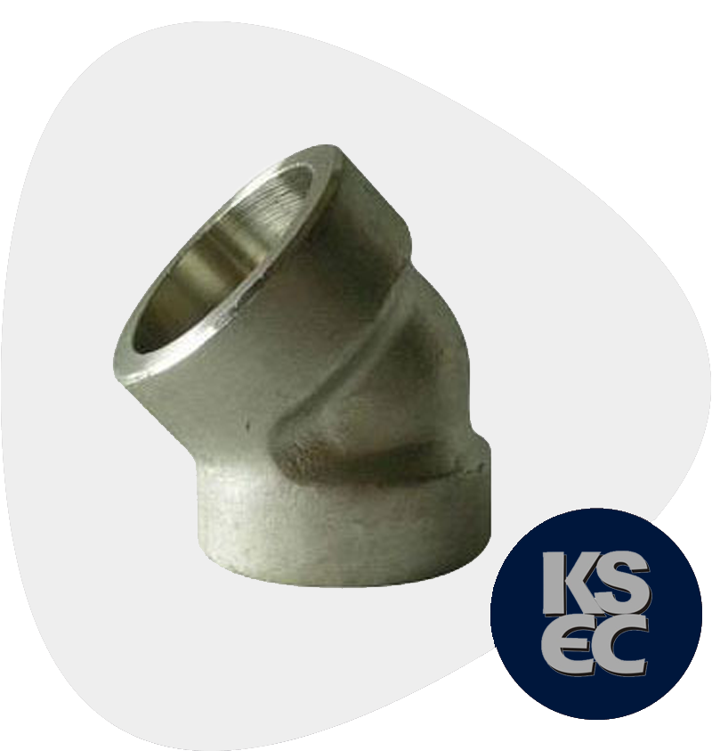 High Nickel Alloy Forged Socket Weld 45 Degree Elbow