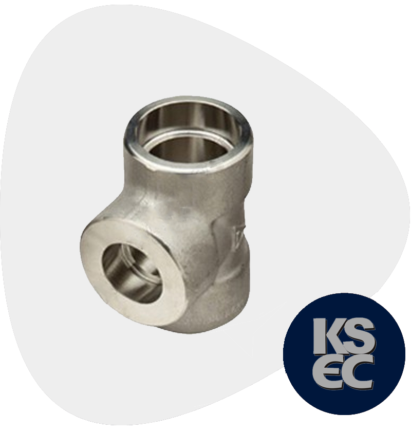 High Nickel Alloy Forged Socket Weld Unequal Tee