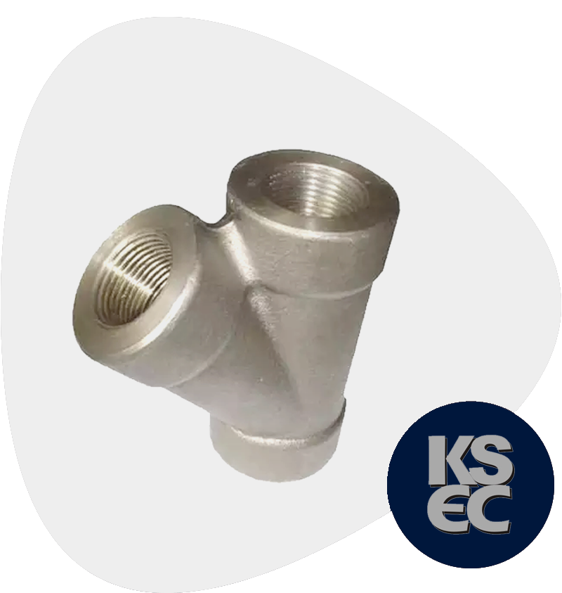 High Nickel Alloy Forged Threaded 45 Degree Lateral Tee