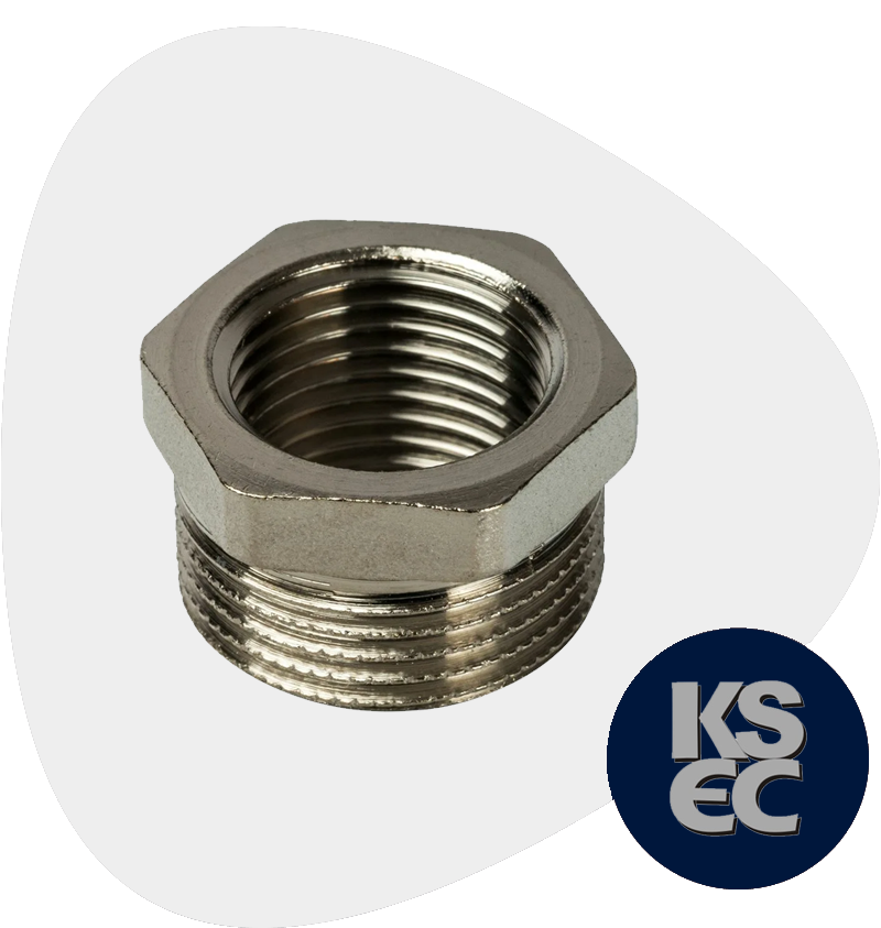 High Nickel Alloy Forged Threaded Hex Head Bushings