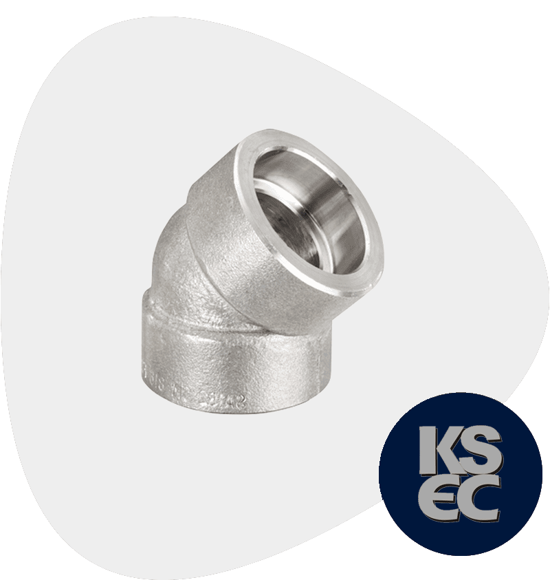 Stainless Steel Forged Socket Weld 45° Elbow