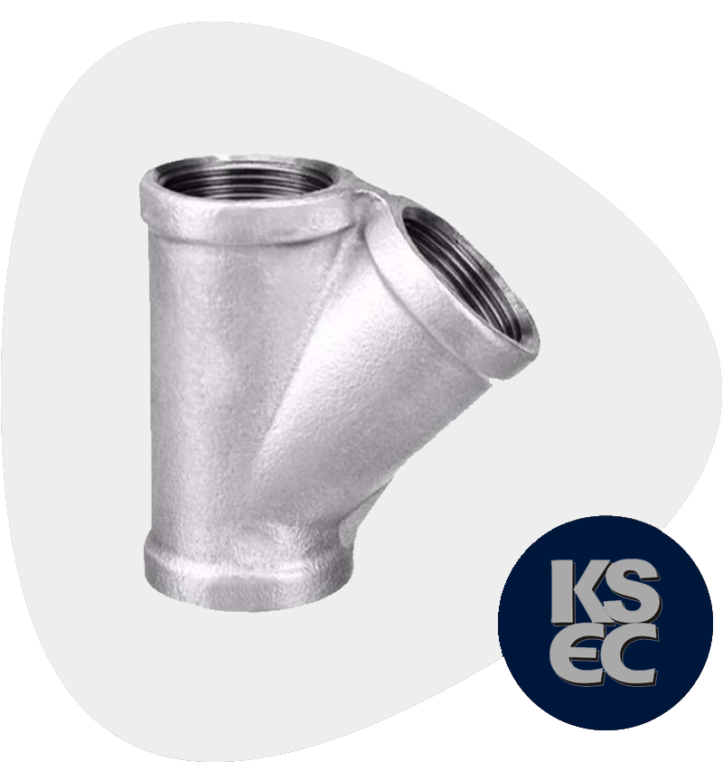 Stainless Steel Forged Threaded 45° Lateral Tee