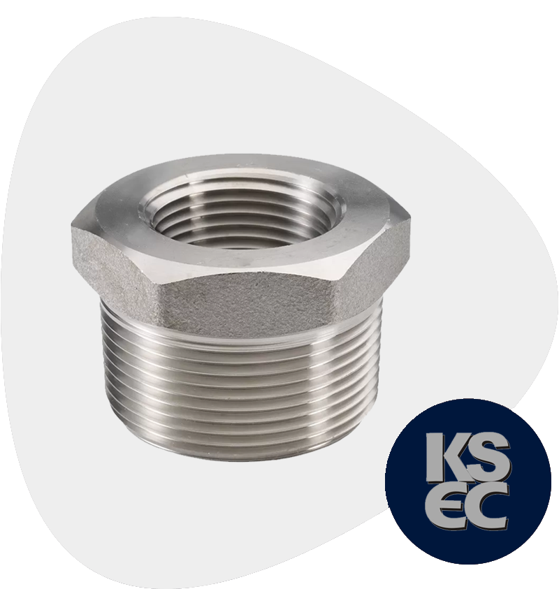 Stainless Steel Forged Threaded Hex Head Bushing